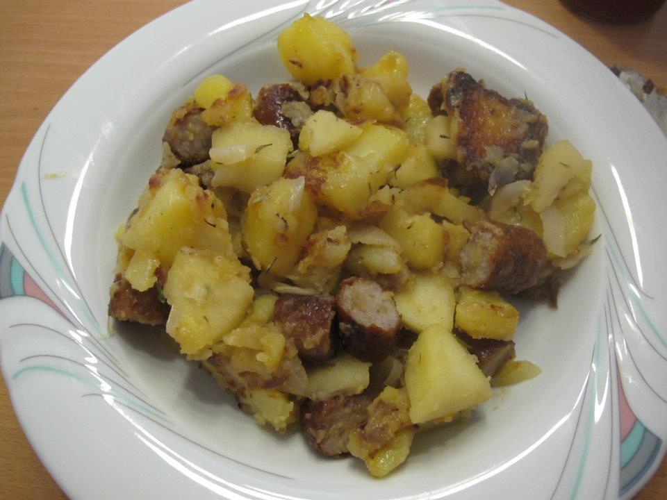 Bratwurst-Apfel-Pfanne