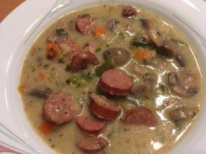 Champignon Suppe mit Mettenden