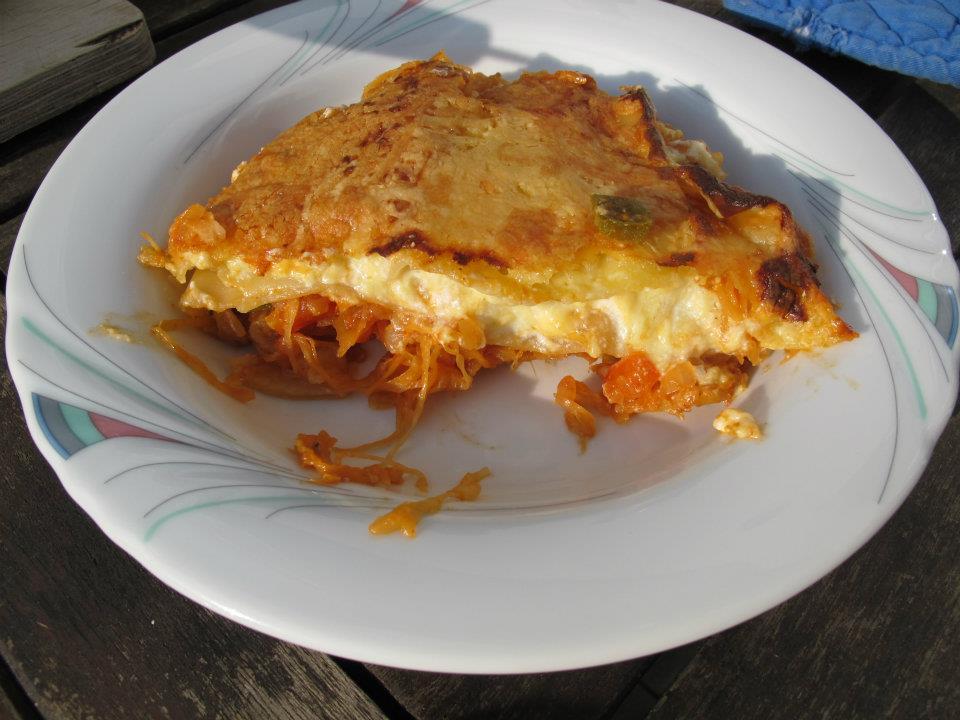 Fasskraut-Lasagne