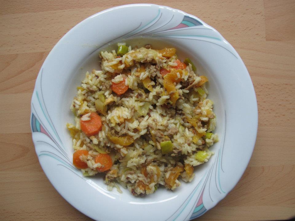 Orientalischer Hackfleich Reistopf