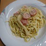 Spaghetti mit marinierten Tomaten in Frischkäse - Rezeptfamilie - Rezepte Kochen Backen Kochrezepte Backrezepte