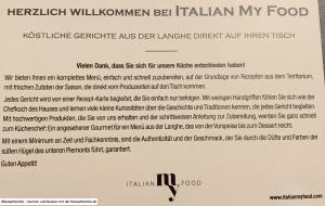 ItalianMyFood - Foodboxen mit Menüs aus der Region Piemont - getestet von der Rezeptfamilie