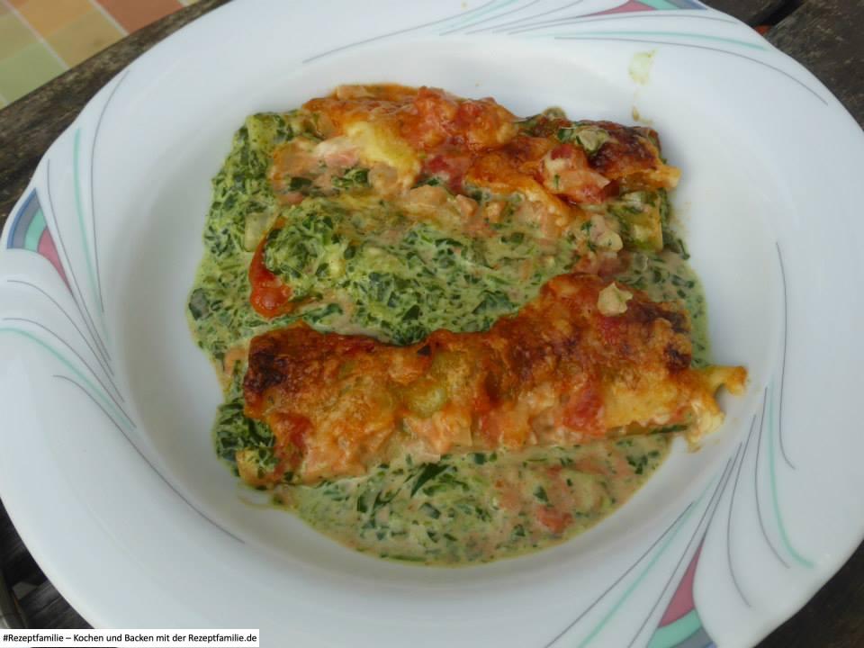Cannelloni mit Spinat und Frischkäse Rezeptfamilie