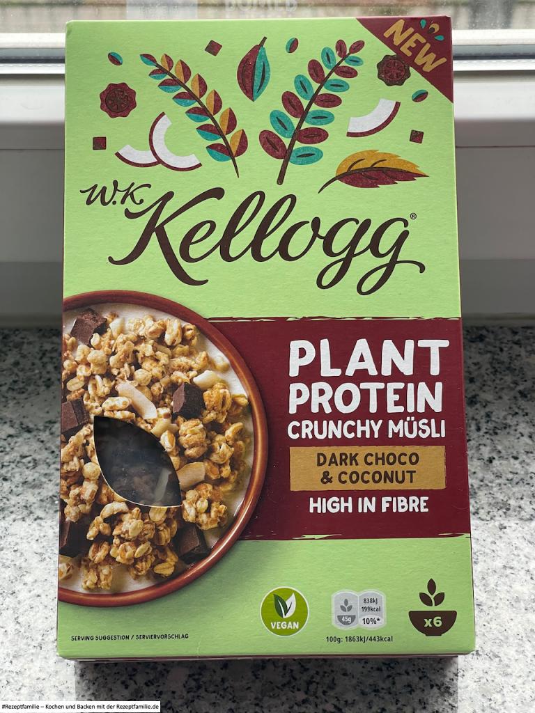 Produkttest brandnooz - neues W.K. Kellogg® Müsli - Dark Choco & Coconut - Rezeptfamilie