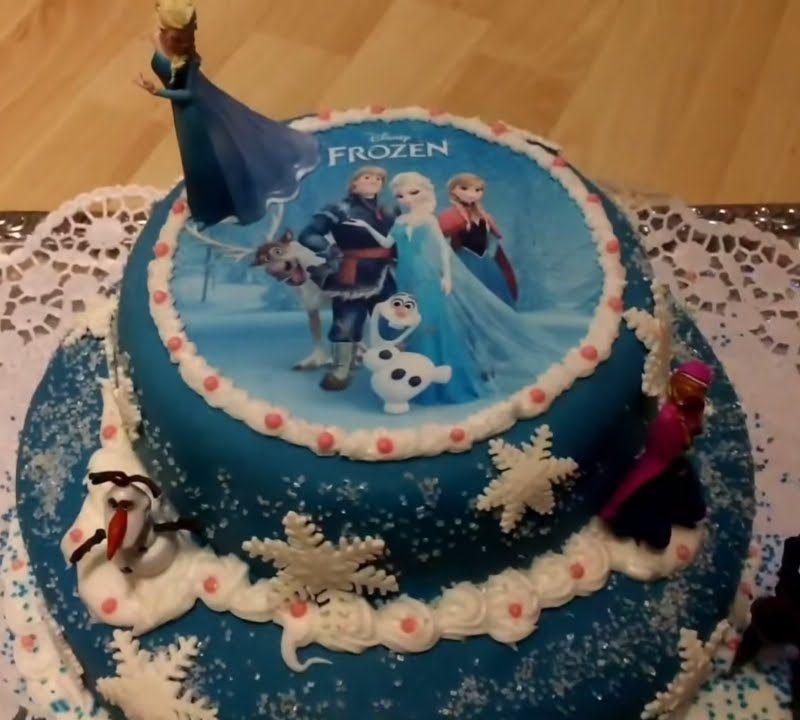 Frozen Torte - Eiskönigin Geburtstagstorte mit Fondant - Rezeptfamilie