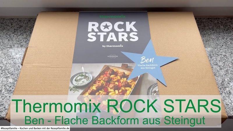 Thermomix ROCK STARS Ben - Flache Backform aus Steingut - Rezeptfamilie
