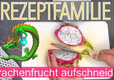 Drachenfrucht : Pitahaya aufschneiden #Rezeptfamilie